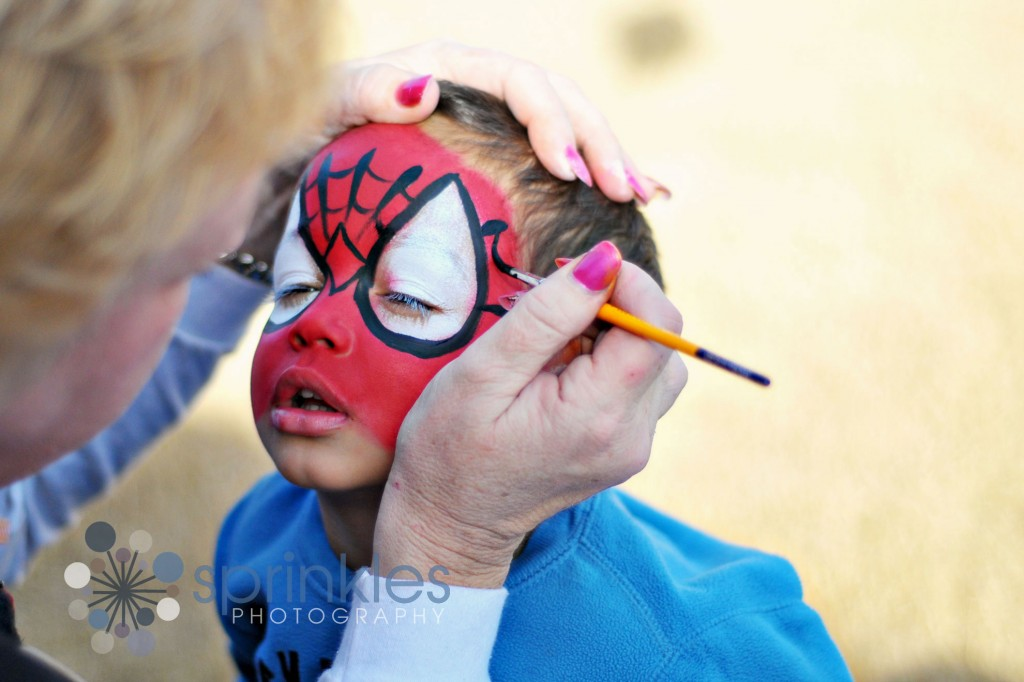 spidy, dallas childrens photography, dallas photographer, dallas photographer picture, face painting picture